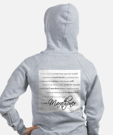 I Am a Marathoner Zipped Hoody