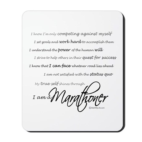 I Am a Marathoner Mousepad