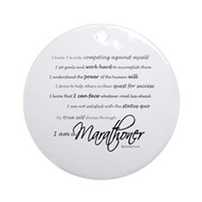 I Am a Marathoner Ornament (Round)