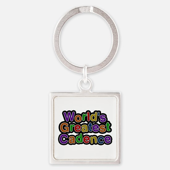 World's Greatest Cadence Square Keychain
