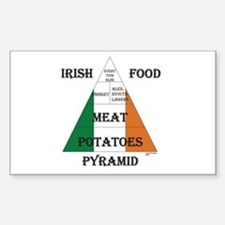 Irish Food Pyramid Decal