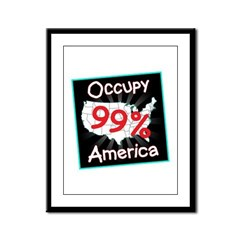 occupy america 99 Framed Panel Print