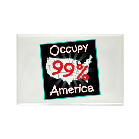 occupy america 99 Rectangle Magnet (100 pack)
