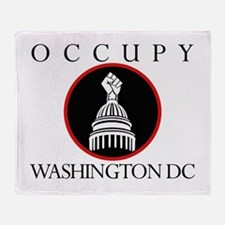 Ocuppy Washington DC Throw Blanket