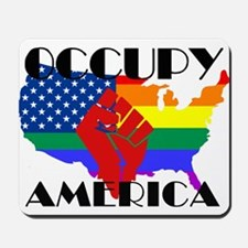 Occupy America LGBTQ Mousepad