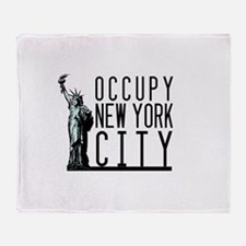 Occupy New York City Throw Blanket