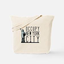 Occupy New York City Tote Bag