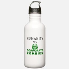 Humanity vs. Corporate Zombie Water Bottle