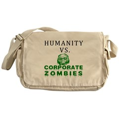 Humanity vs. Corporate Zombie Messenger Bag