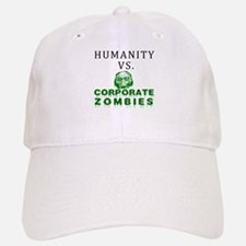 Humanity vs. Corporate Zombie Baseball Baseball Cap