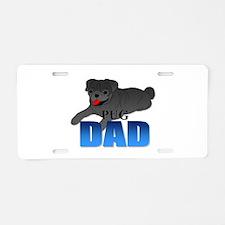 Pug Dad Aluminum License Plate