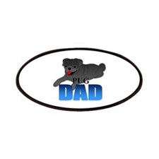 Black Pug Dad Patches