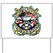 USN Navy Veteran Anchors Yard Sign