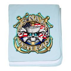 USN Navy Veteran Anchors baby blanket
