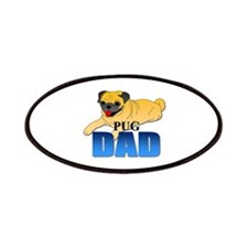 Fawn Pug Dad Patches