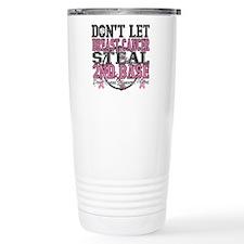 Dont Let Cancer Steal 2nd Base Travel Mug