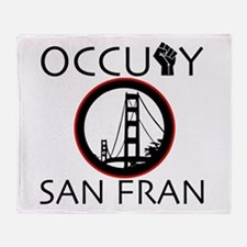 Occupy San Fransisco Throw Blanket