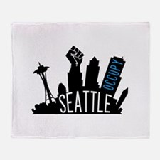 Occupy Seattle Throw Blanket