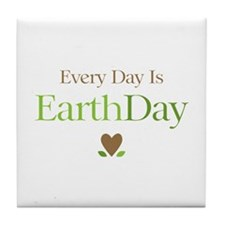Every Day Earth Day Tile Coaster