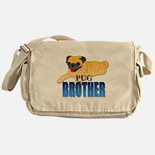 Fawn Pug Brother Messenger Bag