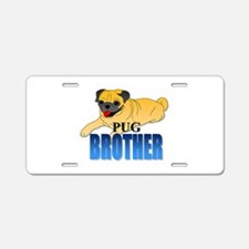 Pug Brother Aluminum License Plate