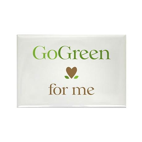 Go Green For Me Rectangle Magnet (100 pack)