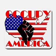 Occupy America USA Flag Mousepad