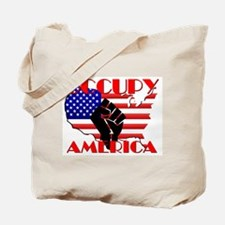 Occupy America USA Flag Tote Bag