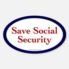 Save Social Security Oval Bumper Stickers