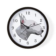 Bull Terrier 2 Wall Clock