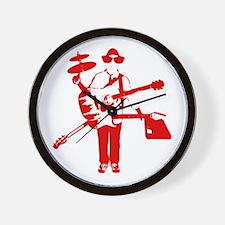 H+TI Time 2 Elevate Yo Mind Wall Clock! - RED