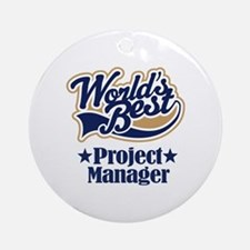 Project Manager Gift Ornament (Round)