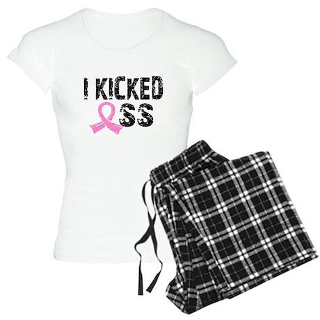 I Kicked Ass Breast Cancer Women's Light Pajamas