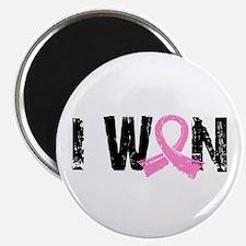 """I Won Breast Cancer 2.25"""" Magnet (10 pack)"""