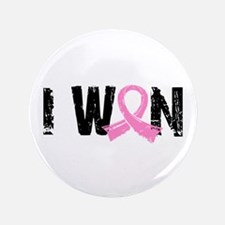 """I Won Breast Cancer 3.5"""" Button (100 pack)"""