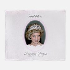 HRH Princess Diana Remembrance Throw Blanket