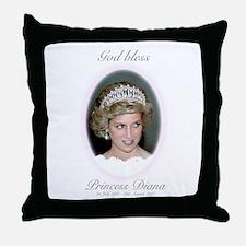 HRH Princess Diana Remembrance Throw Pillow