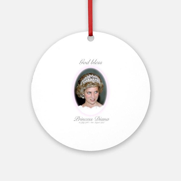 HRH Princess Diana Remembrance Ornament (Round)