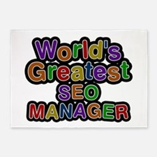 World's Greatest SEO MANAGER 5'x7' Area Rug