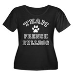 Team French Bulldog Women's Plus Size Scoop Neck D