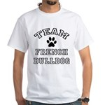 Team French Bulldog White T-Shirt