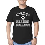Team French Bulldog Men's Fitted T-Shirt (dark)