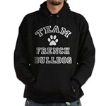 Team French Bulldog Hoodie (dark)