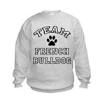 Team French Bulldog Kids Sweatshirt