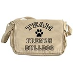 Team French Bulldog Messenger Bag