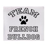Team French Bulldog Throw Blanket