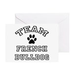 Team French Bulldog Greeting Card