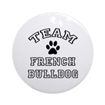 Team French Bulldog Ornament (Round)