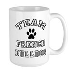 Team French Bulldog Large Mug