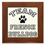 Team French Bulldog Framed Tile